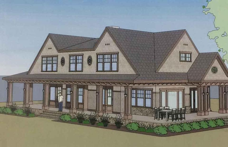 A rendering of Jeb Bush's home in Kennebunkport, Me.